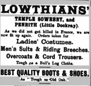 Nathaniel Dean Lowthian, Temple Sowerby, Cumbrian Characters,