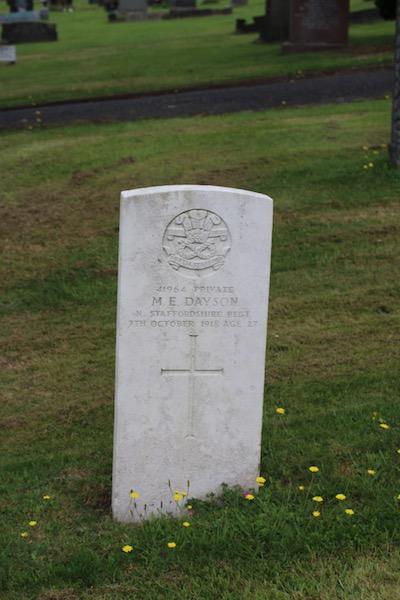 Mark Dayson, Cumbrian Characters, First World War, Beacon Edge Cemetery, Penrith
