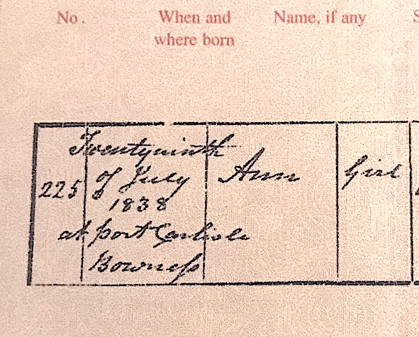 Births post-1837, and 'constraints on marriage'