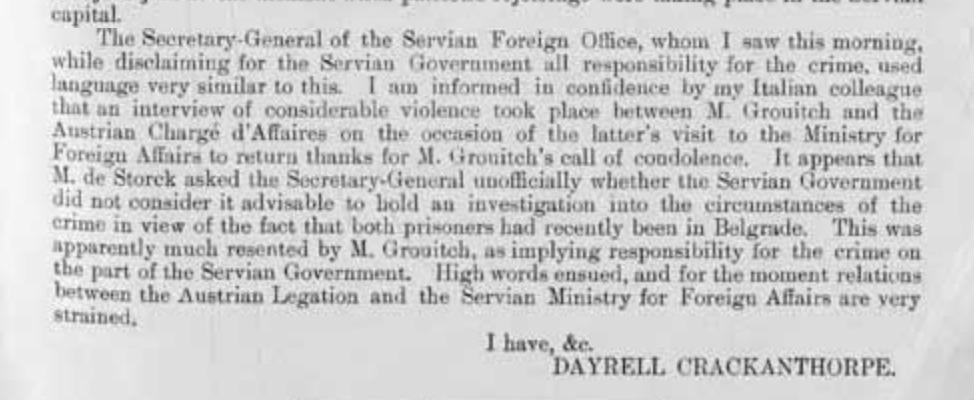 Newbiggin to Serbia and the First World War