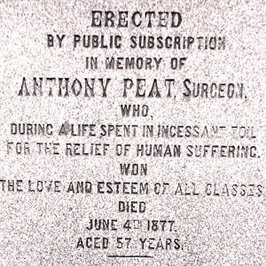 Dr Anthony Peat, Portland Square, Workington, Cumbrian Characters,