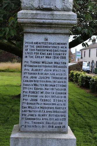 High Hesket, first world war, Cumbrian Characters