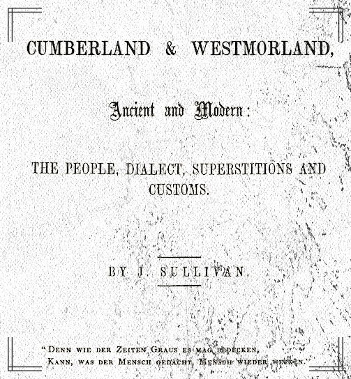Cumberland & Westmorland Ancient and Modern