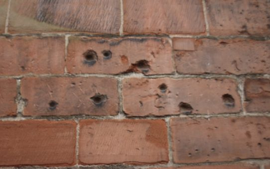 Hundreds of holes, in Carlisle Cathedral