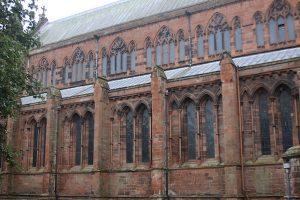 Carlisle Cathedral, holes, musket balls, Cumbrian Characters